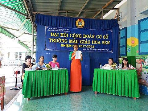 Ban bầu cử thông báo kết quả kiểm phiếu bầu BCH công đoàn