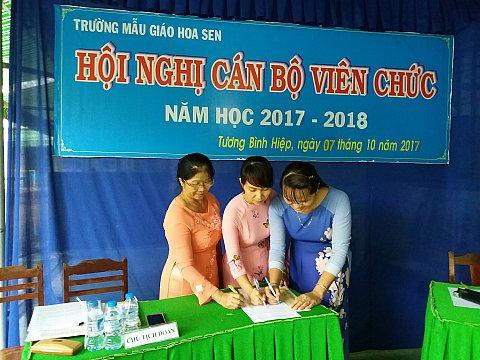 Hội nghị CB CC VC năm học 2017 - 2018